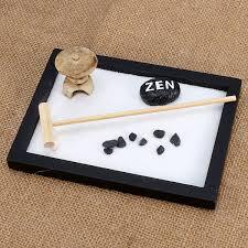 15cm Resin Feng Shui Zen Garden Stone Rake Pebble Sand Tabletop Tray