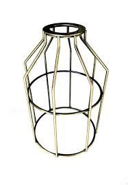 antique brass finish small wire l guard cage nostalgicbulbs