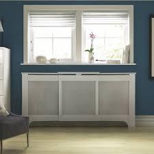Radiator Cabinets Bq by Cambridge Medium White Painted Radiator Cover Departments Diy