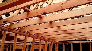 Ceiling Joist Spacing For Drywall by Ceiling Joist Cabin In The Woods Youtube
