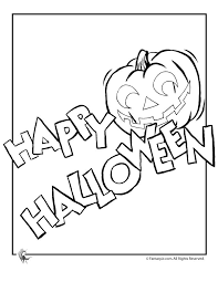 Happy Halloween Coloring Page