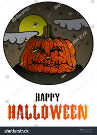Scary Pumpkin Printable by Halloween Background Scary Pumpkin Stock Vector 484247305