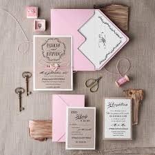 Wedding Invitation Suite 20 Rustic Pink Invitations Set Eco Invites