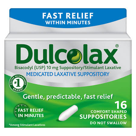 Dulcolax Laxative Suppositories - 16ct