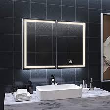 dictac spiegelschrank bad mit led beleuchtung und steckdose