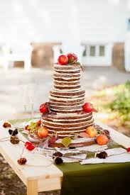 Brides A Naked Apple Fall Wedding Cake With Fresh Fruit Cream Cheese Frosting And Citrus Glaze Decorated Apples