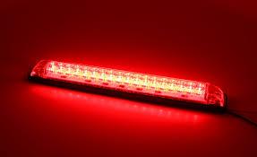 RED Or AMBER LED Light Strip - HEAVY DUTY - 12VDC - 8