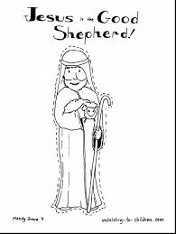 Excellent Jesus Good Shepherd Coloring Page With And Pages Online