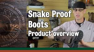 snake proof boots product overview youtube