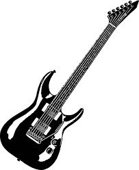 Black Guitar Coloring Page