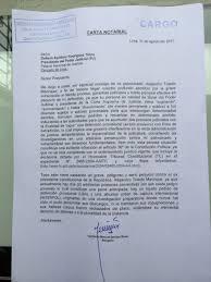 Alejandro Toledo Le Mandó Una Carta Notarial Al Presidente Del Poder