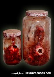 Scary Halloween Props For Haunted House by Halloween Prop Bloody Ripped Out Eyes In Jars Extreme Detail