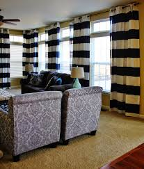 Black And White Striped Curtains by Interior Design Chocolate And White Horizontal Striped Curtains