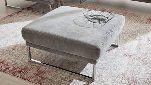 interliving sofa serie 4102 hocker grauer stoffbezug matrix metallkufen ca 91 x 91 cm