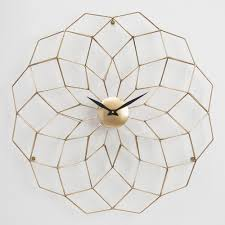 Bed Bath And Beyond Decorative Wall Clocks by Wyatt Geometric Wall Clock World Market