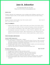 Nursing Student Resume Graduate Samples Sample Of Nurse