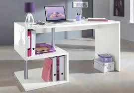 bureau blanc brillant bureau blanc design pas cher