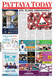 Pattaya Today Vol 16 Issue 22 1 15 August 2017 by Pattaya Today Newspaper issuu