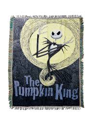 Motley Pumpkin Patch by The Nightmare Before Christmas Pumpkin King Woven Tapestry Throw