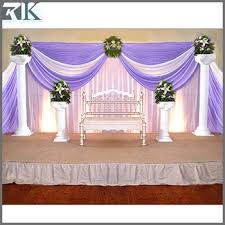 Indoor Hall Wedding Stage Decoration