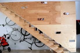 Bright Garage Bike Rack Technique Philadelphia Industrial Staircase Image Ideas With Accent Wall Racks Concrete Flooring