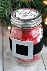 Santa Belt Christmas Jar Gift Idea