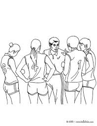 Volleyball Court Team Coloring Page