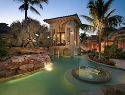 100 Portabello Estate Corona Del Mar 9714_Rear_Dusk2 U Shaped House With Pool Pool Houses Home