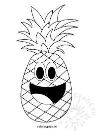 Cartoon Fruit Pineapple Outline