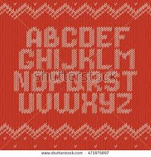 Knitted Alphabet Stock Royalty Free & Vectors