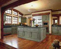 Cabinets Drawer Rustic Green Kitchen Best Home Decor