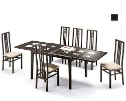 Dining Set Paloma Cappuccino W/ Glass Top Table Italy 33D101