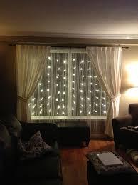 living room wonderful curtain string lights designs led
