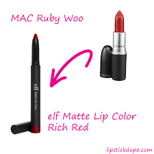 Nyx Pumpkin Pie Dupe by Mac Ruby Woo Dupe Elf Studio Matte Lip Color In Rich Red Www