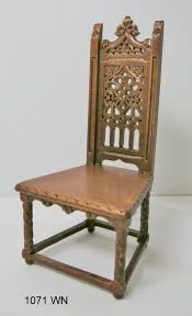 The-carved-design-on-the-back-of-the-chair-depicts-a-church-window ... Gothic Revival Oak Glastonbury Chair Sale Number 2663b Lot Antique Carved Walnut Throne Arm Bucks County Estate Truly Stunning Medieval Italian Stylethrone Scissor X Large Victorian A Pair Of Adjustable Recling Oak Library Chairs Wick Tracery Cathedral My Parlor Room Purple Reproduction Shop Pair Jacobean Style Armchairs In Streatham Charcoal Gray Painted Rocking By Just The Woods Wicker Seat Side At