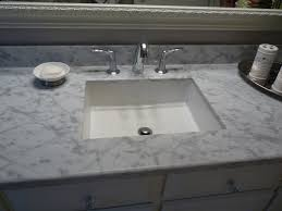 fabulous neutral square undermount kitchen sink on marble