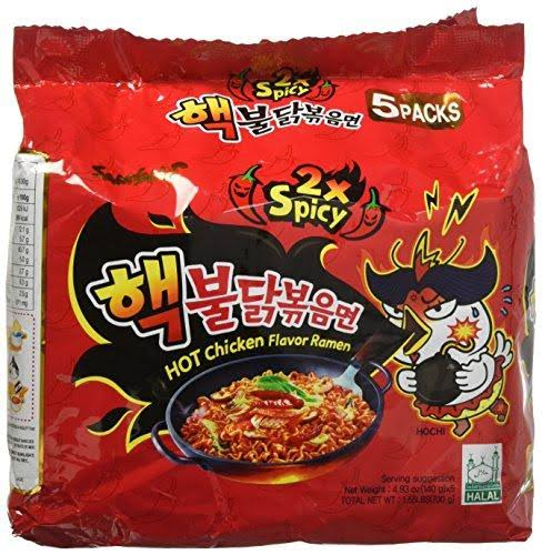 Samyang Hot Chicken Ramen - 2X Spicy, 140g