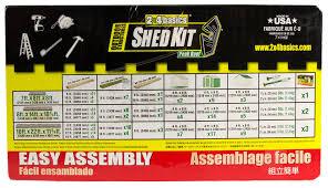 Arrow Storage Sheds Menards by Amazon Com Hopkins 90192 2x4basics Shed Kit Peak Style Roof