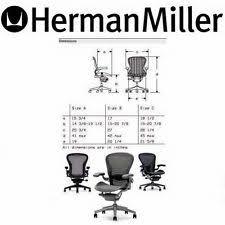 leather herman miller aeron chair titanium frame zinc pellicle