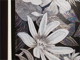 black and white flower mosaics from sicis