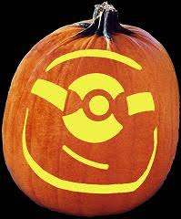 Minion Carved Pumpkins by Spookmaster Minion Pumpkin Carving Pattern Halloween Pinterest