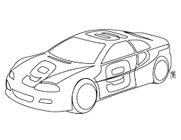 Online Coloring Pages Race Cars Nascar Car Free Printable Line Drawings Full Size