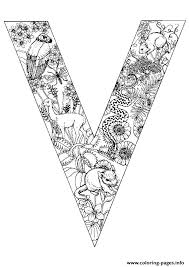Animal Alphabet Letter V Coloring Pages Printable And Book To Print For Free Find More Online Kids Adults Of