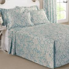 Box Pleat Bed Skirt by Floral Grace Lightweight Fitted Bedspread