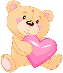 Transparent Cute Teddy With Pink Heart Png Bears Clipart