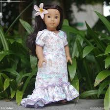 Holoku Dress For Nanea Mitchell My Creations For Dolls Pinterest