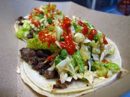 Korean Short Rib Tacos + Sriracha At The Kogi BBQ Taco Truck In Los ... Line Up At Kogi Bbq Koremexican Queen Of La Food Truck Culture Roy Chois Inside Laxs Terminal 4 Soft Opening This Week Taqueria Taco Truck Catering A Korean The Best Fusion Tacos In Los Angeles Southern Food Beer Cheese And Rock N Roll Good Wikipedia El Sabrosito Eagle Taco Kimchinius Rise Street In 30 Best Cities For Foodies Around The World Ding Out Lost Larder Photos Azul Yelp