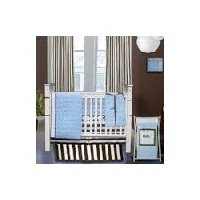 Bacati Crib Bedding by Bacati Quilted Circles 3 Piece Crib Bedding Set Color Blue Baby