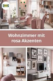 einrichtungsidee für ein wohnzimmer in braun rosa