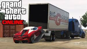 GTA 5 Online - Hauling Cars In Semi Trucks ! How To Transport Cars ...